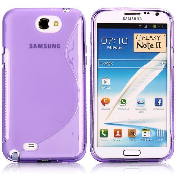 S-Line Transparent (Lila) Samsung Galaxy Note 2 Skal