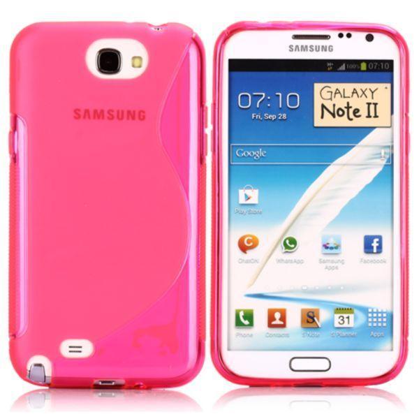 S-Line Transparent (Rosa) Samsung Galaxy Note 2 Skal