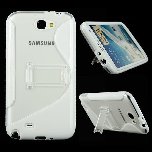 S-Line Transparent Stödfot (Vit) Samsung Galaxy Note 2 Skal