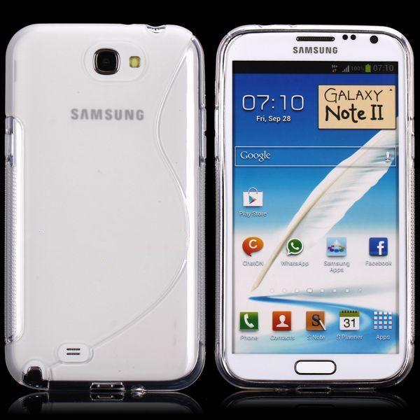 S-Line Transparent (Transparent) Samsung Galaxy Note 2 Skal