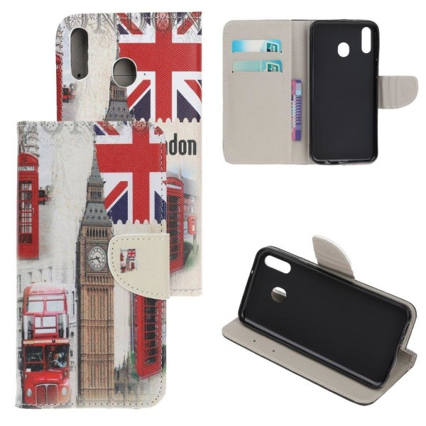 Samsung Galaxy A40 cross texture leather case - Big Ben and