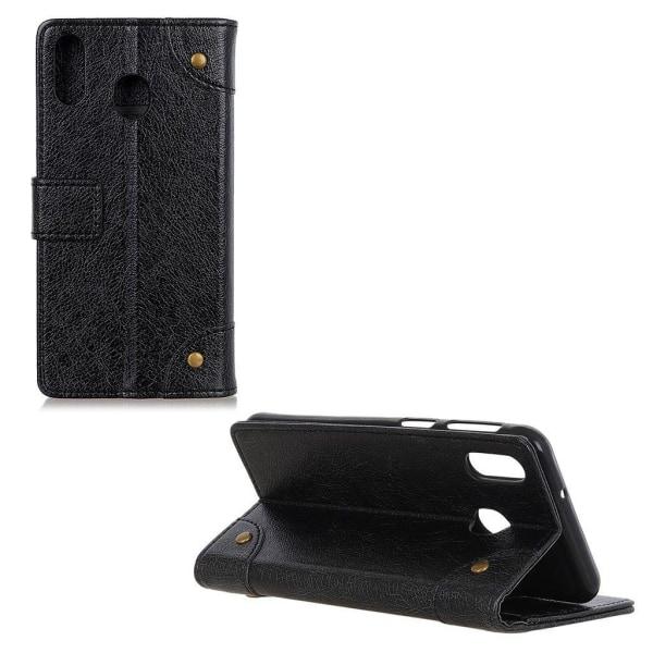 Samsung Galaxy A40 leather case - Black