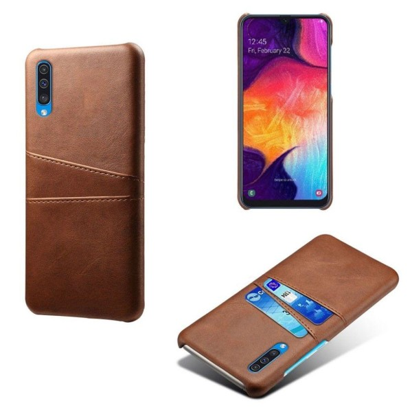 Samsung Galaxy A50 leather coated case - Brown