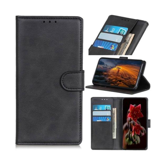 Samsung Galaxy A50 matte leather case - Black