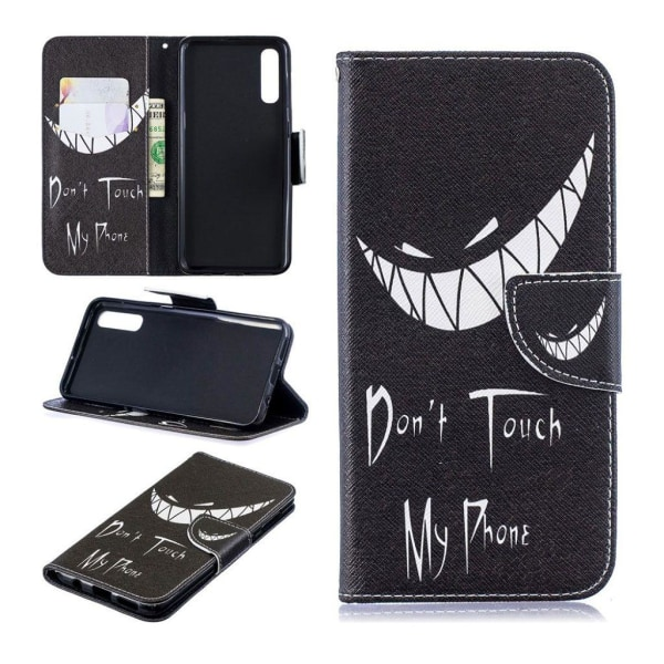 Samsung Galaxy A50 pattern leather case - Do Not Touch My Ph