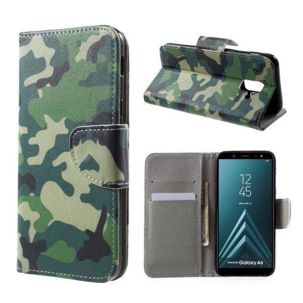 Samsung Galaxy A6 (2018) mobilfodral PU läder plånbok ståend