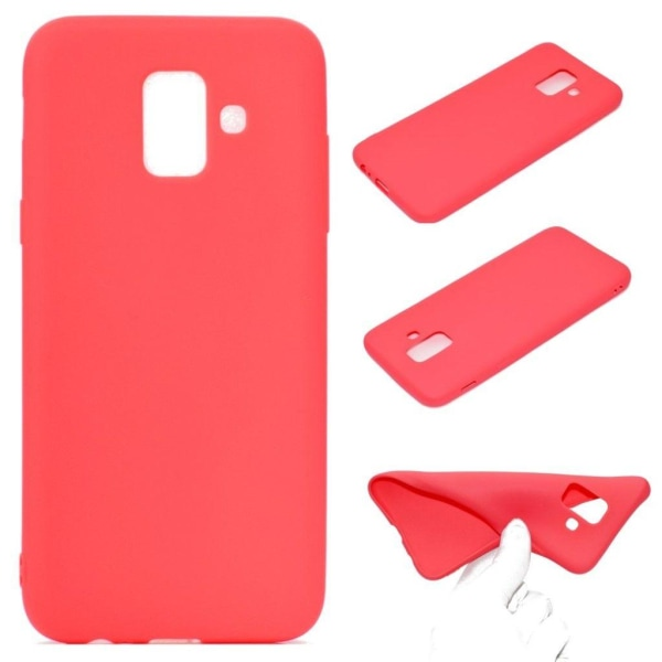 Samsung Galaxy A6 (2018) mobilskal silikon matt - Röd