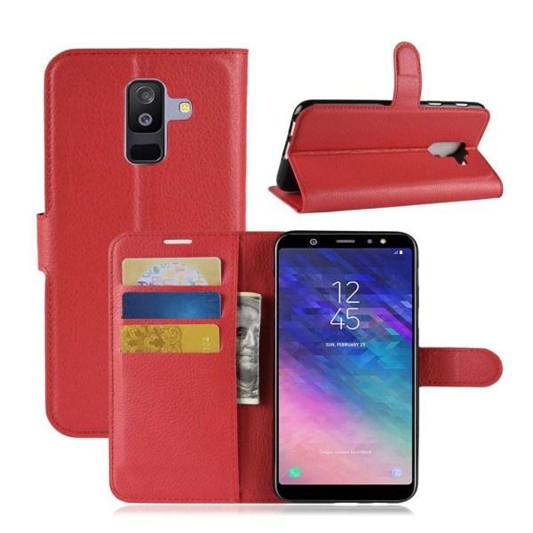 Samsung Galaxy A6 Plus (2018) mobilfodral PU läder skyddande