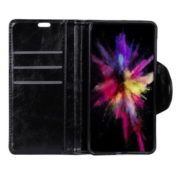 Samsung Galaxy A7 (2018) textured leather flip case - Black