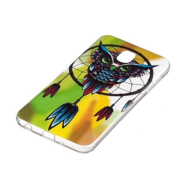 Samsung Galaxy J3 (2018) Lysande mönster fodral - Oggla och