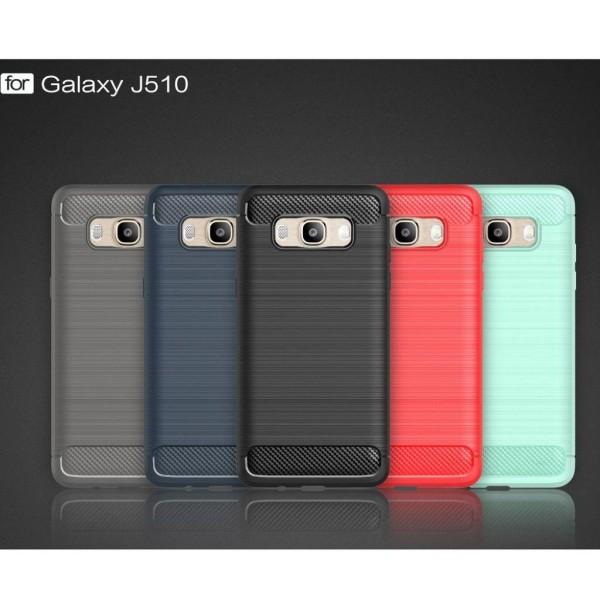 Samsung Galaxy J5 (2016) kolfiber silikonskal - Röd