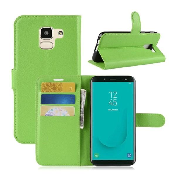 Samsung Galaxy J6 (2018) mobilfodral PU läder TPU plånbok st