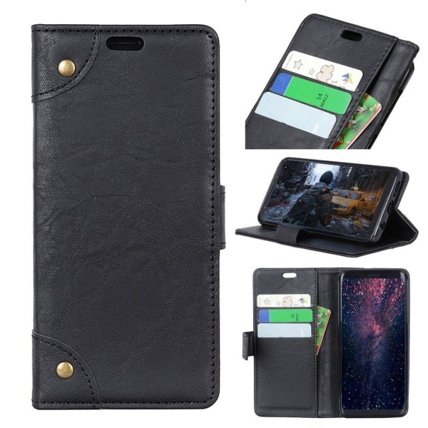 Samsung Galaxy J6 (2018) mobilfodral syntetläder silikon stå