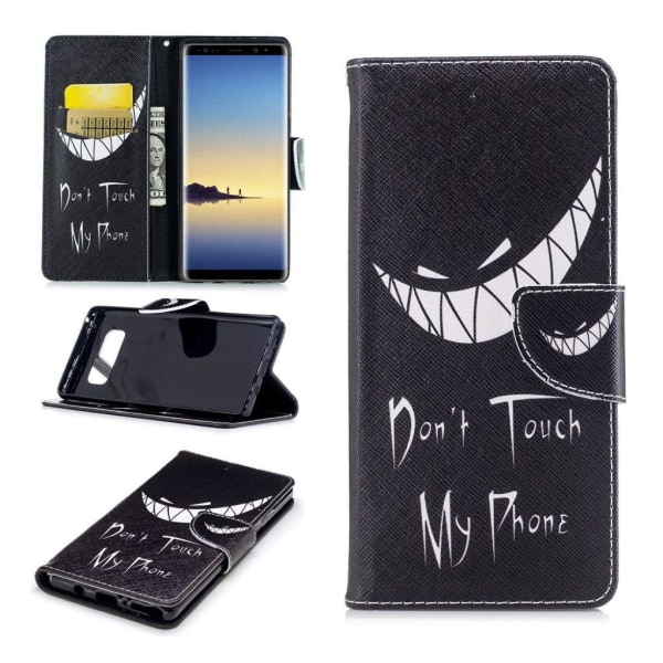 Samsung Galaxy Note 8 Fodral med snyggt motiv - Dont touch