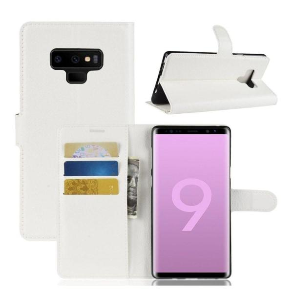 Samsung Galaxy Note 9 mobilfodral syntetläder silikon ståend