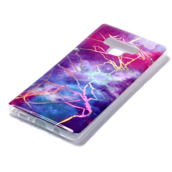 Samsung Galaxy Note 9 mobilskal silikon marmor - Multifärgad