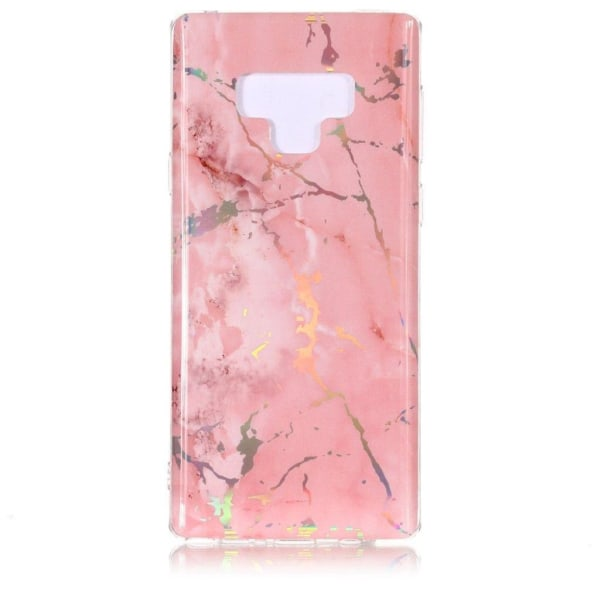 Samsung Galaxy Note 9 mobilskal silikon marmor - Rosa