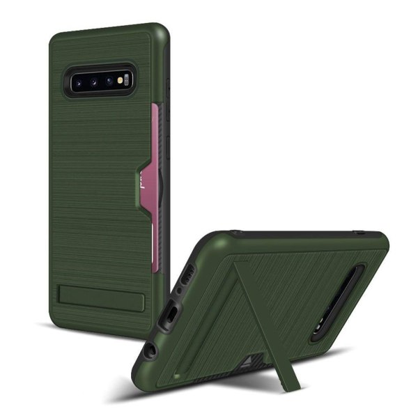 Samsung Galaxy S10 Plus brushed case - Army Green
