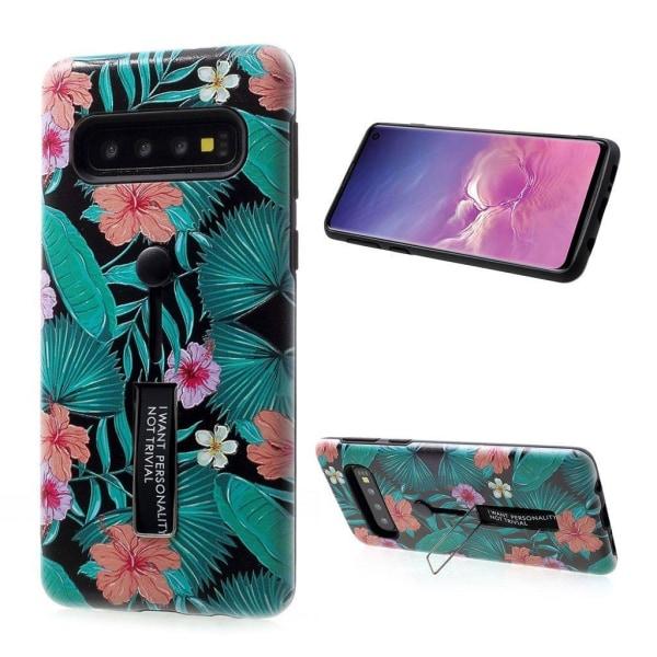 Samsung Galaxy S10 Präglat mönster hybridfodral - Mönster K