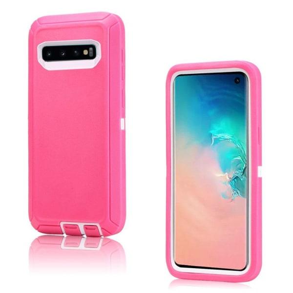 Samsung Galaxy S10 shockproof case - White / Rose