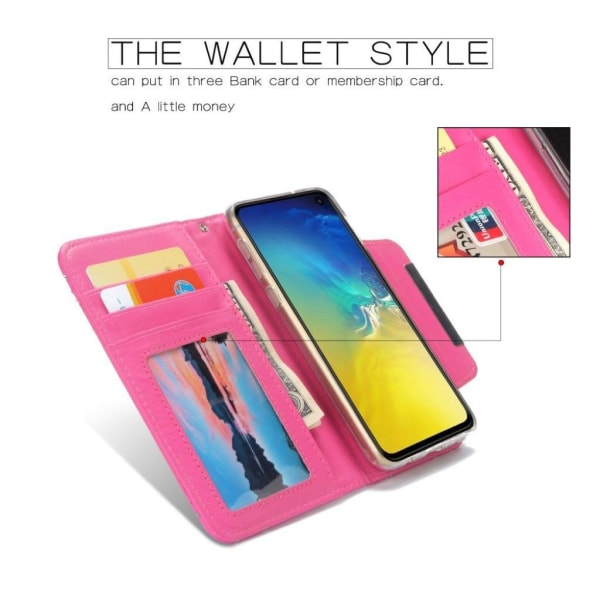 Samsung Galaxy S10e glittery pattern case - Rose