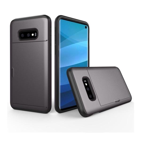 Samsung Galaxy S10e korthållare hybridfodral - Grå