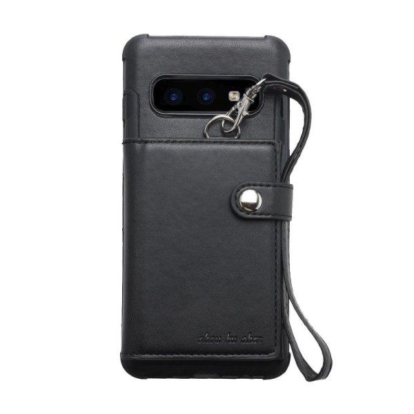Samsung Galaxy S10e multifunktionellt läderskal - svart
