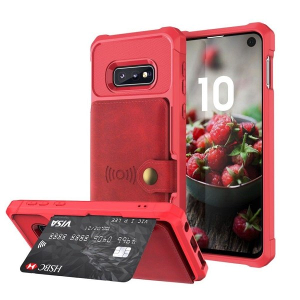 Samsung Galaxy S10e Plånboksfodral - Röd