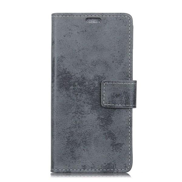 Samsung Galaxy S10e vintage läderfodral - Grå