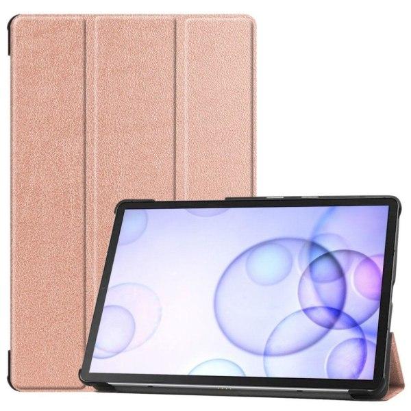 Samsung Galaxy Tab S6 tri-fold leather case - Rose Gold