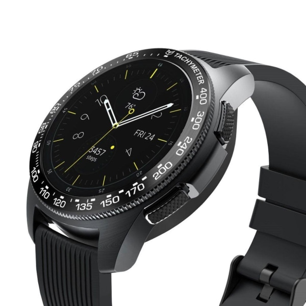 Samsung Galaxy Watch (42mm) stainless steel bezel - Black Ri