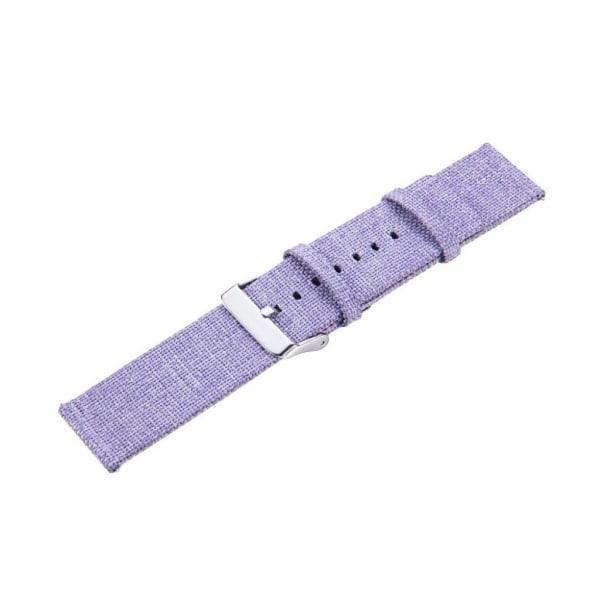 Samsung Galaxy Watch (42mm) stylish canvas watch strap - Pur