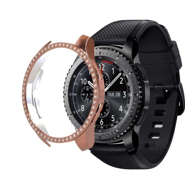 Samsung Galaxy Watch (46mm) rhinestone décor frame - Rose Go