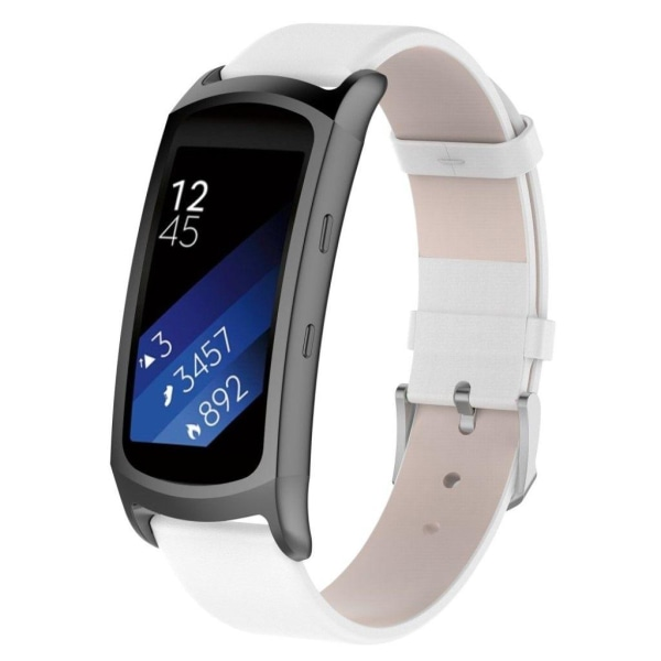 Samsung Gear Fit2 Pro genuine leather watch band - White