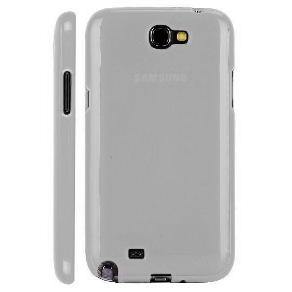 Semitransparent Shell (Vit) Samsung Galaxy Note 2 Skal