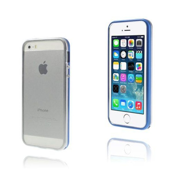 Snap (Blå/Silver) iPhone 5/5S Aluminium Bumper