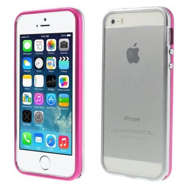 Snap (Het Rosa/Silver) iPhone 5/5S Aluminium Bumper