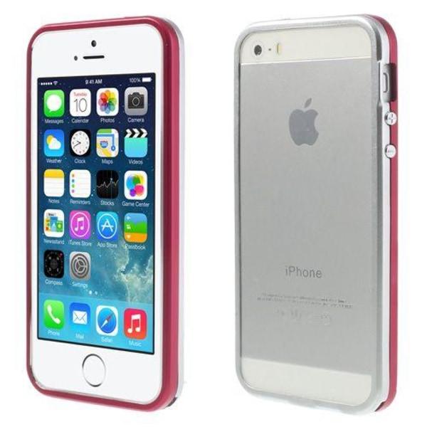 Snap (Röd/Silver) iPhone 5/5S Aluminium Bumper