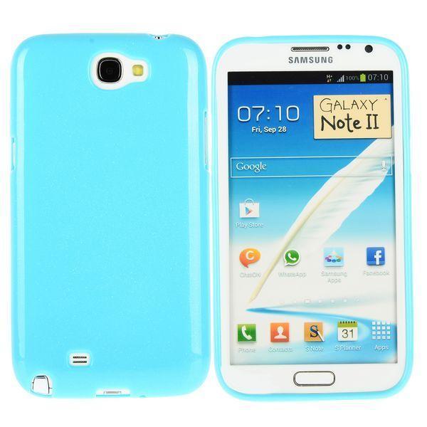 Soft Glitter Shell (Blå) Samsung Galaxy Note 2 Skal