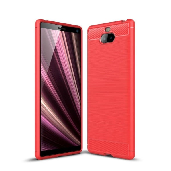 Sony Xperia 10 carbon brushed case - Red