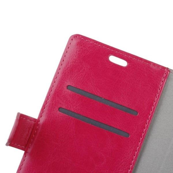 Sony Xperia L1 crazy horse läderfodral - Varm rosa