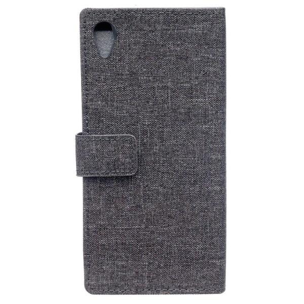 Sony Xperia L1 tyg textur läderfodral - Grå