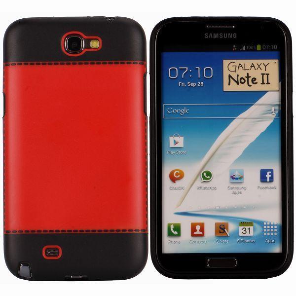 TailorMade Svart (Röd) Samsung Galaxy Note 2 Skal