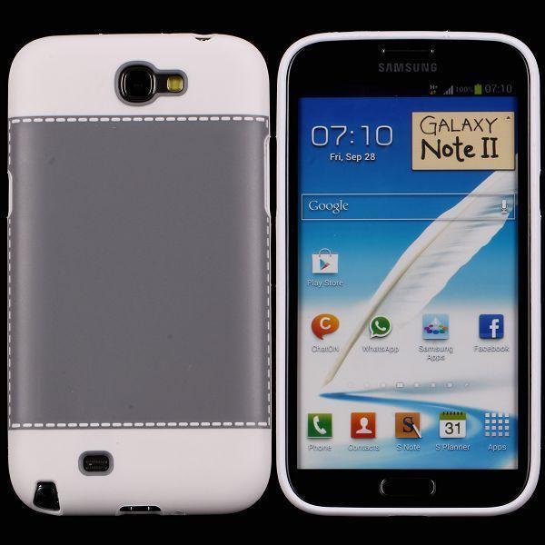 TailorMade Vit (Grå) Samsung Galaxy Note 2 Skal