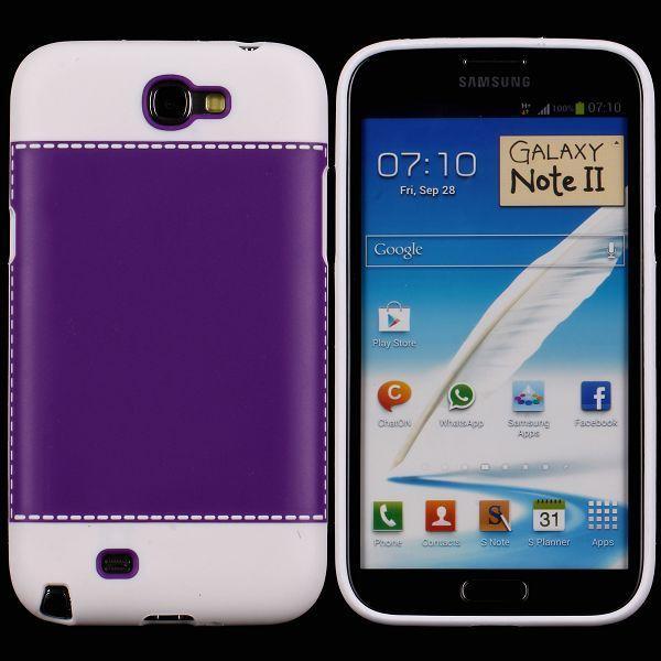TailorMade Vit (Lila) Samsung Galaxy Note 2 Skal