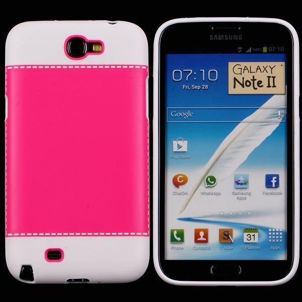 TailorMade Vit (Röd) Samsung Galaxy Note 2 Skal