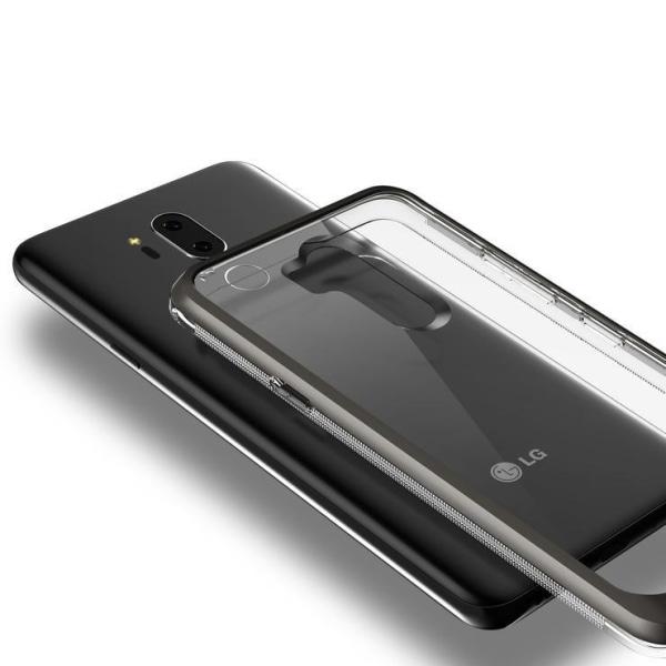 VRS Design LG G7 Crystal Bumper - Metal Black