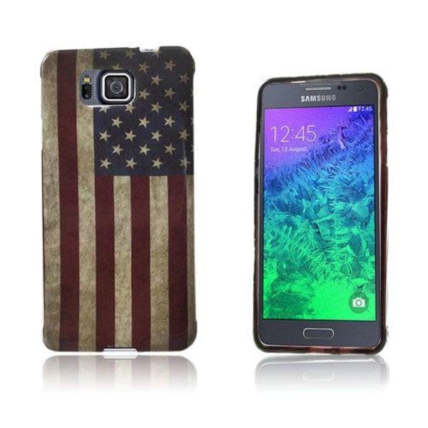Westergaard Samsung Galaxy Alpha Skal - Vintage USA Flagga