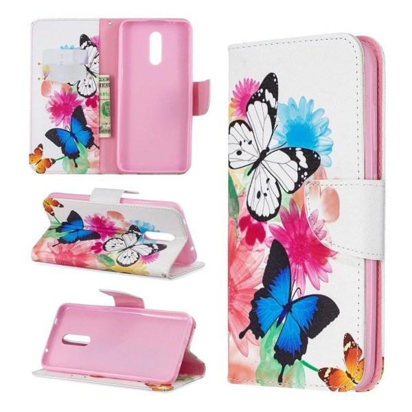 Wonderland Nokia 3.2 flip fodlar - Livliga Fjärilar