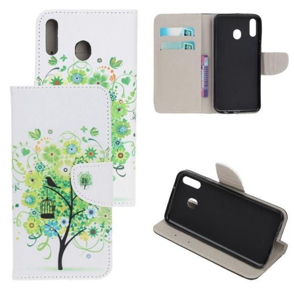Wonderland Samsung Galaxy A20e flip fodral - Grönt Träd med